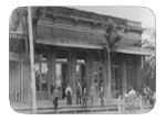 Eppinger's Store. Photo circa 1895 - Eppinger's was purchased by their manager O.C. Schulze in 1899. Often referred to as the largest General Merchandise store in the area. Eppingers store is where Cinnamon's Jewelers is now located.