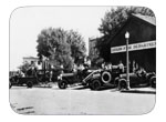 The New Improved Fire Department - Circa 1928; The La France Is The Second From The Left In Line