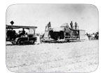 Sievers Bros - First Holt Tractor To Pull Harvester Circa 1920